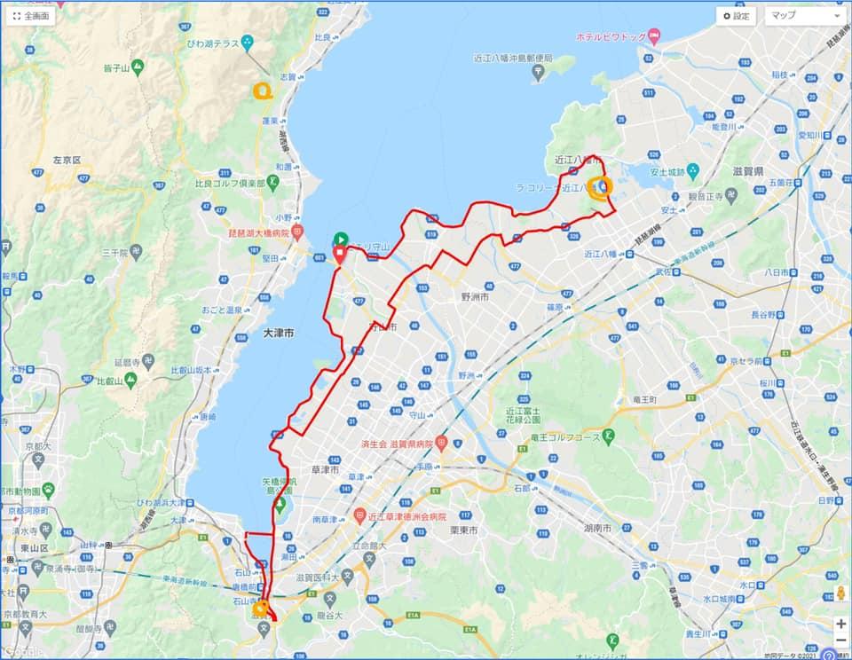 保護中: 【2021年11月7日】琵琶湖方面サイクリング